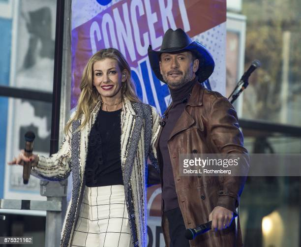 Faith Hill and Tim McGraw perform live on NBC'S Today at Rockefeller Plaza on November 17 2017 in New York City