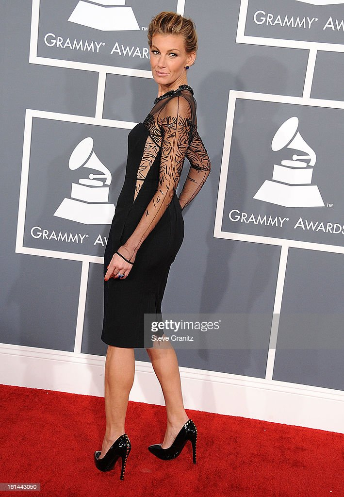 Faith Hill arrives at the The 55th Annual GRAMMY Awards on February 10, 2013 in Los Angeles, California.