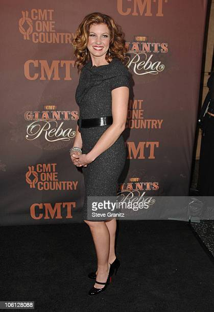Faith Hill during CMT Giants Honoring Reba McEntire Arrivals at Kodak Theatre in Hollywood California United States