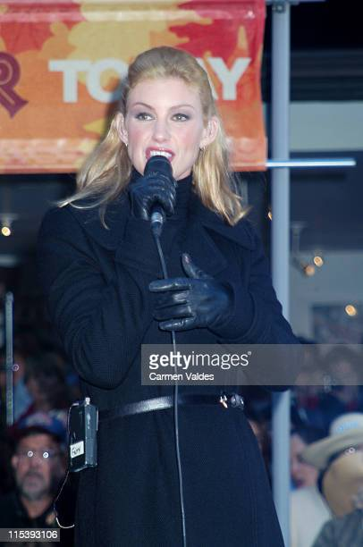 Faith Hill during Faith Hill Performs on 'The Today Show' October 18 2002 at NBC Studios Rockefeller Center in New York City New York United States