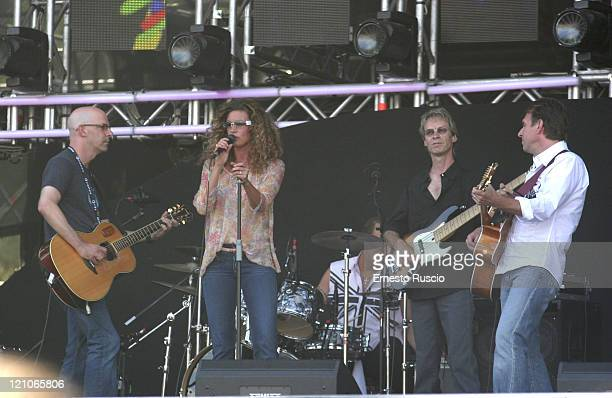 Faith Hill during LIVE 8 Rome Show at Circus Maximus in Rome Italy