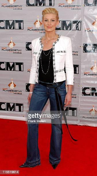Faith Hill in diamond jewelry by Martin Katz, Ltd during 2003 CMT Flameworthy Awards - Arrivals at The Gaylord Center in Nashville, Tennessee, United...