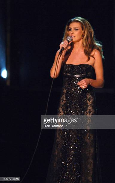 Faith Hill performs 'Like We Never Loved At All' during The 39th Annual CMA Awards Show at Madison Square Garden in New York City New York United...