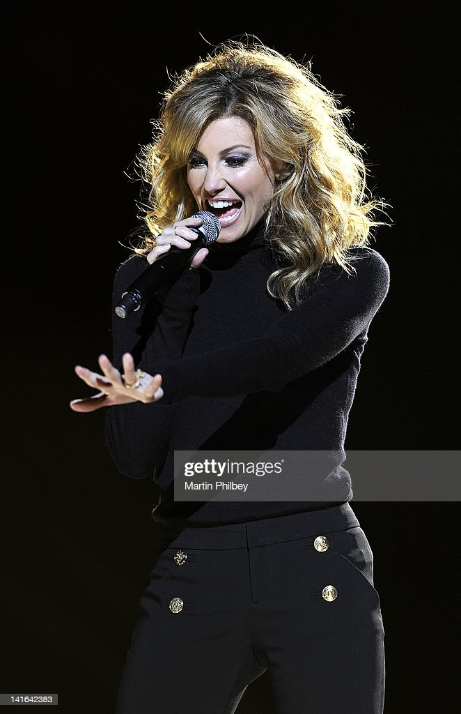 Faith Hill performs live in concert at the Rod Laver Arena on March 20, 2012, in Melbourne, Australia.