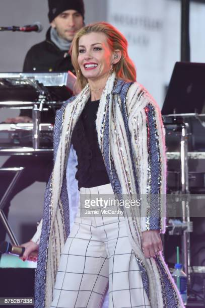 Faith Hill performs On NBC's Today at Rockefeller Plaza on November 17 2017 in New York City