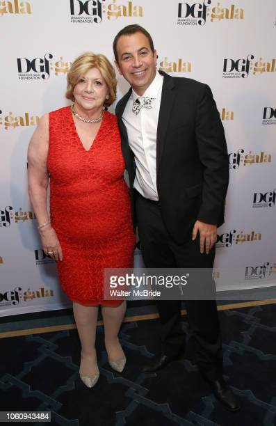 Faith Hope Consolo and Anthony Wilkinson attend the cocktail party for the Dramatists Guild Foundation 2018 dgf gala at the Manhattan Center Ballroom...
