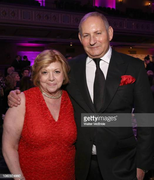 Faith Hope Consolo and John Demsey attend the cocktail party for the Dramatists Guild Foundation 2018 dgf gala at the Manhattan Center Ballroom on...