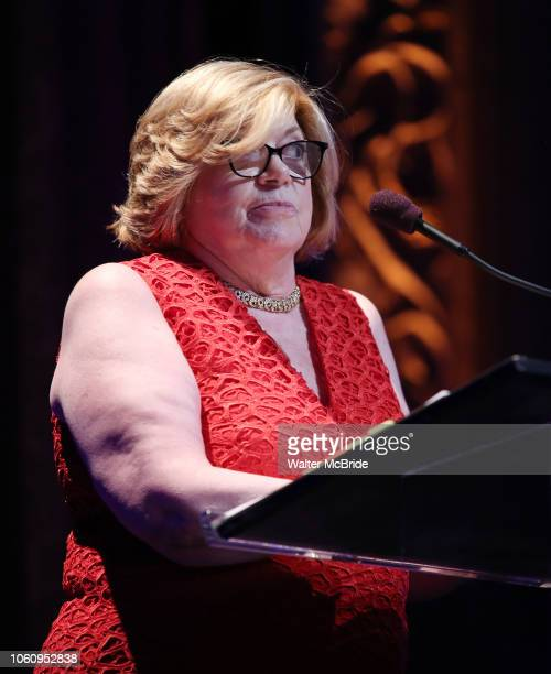 Faith Hope Consolo on stage at the Dramatists Guild Foundation 2018 dgf gala at the Manhattan Center Ballroom on November 12 2018 in New York City