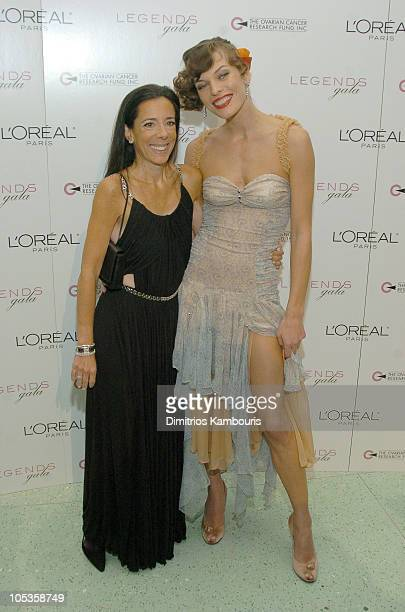Faith Kates Kogan and Milla Jovovich during Stars Light Up The 2nd Annual Legends Gala Hosted by OCRF and Loreal at Metropolitan Pavillion and Altman...