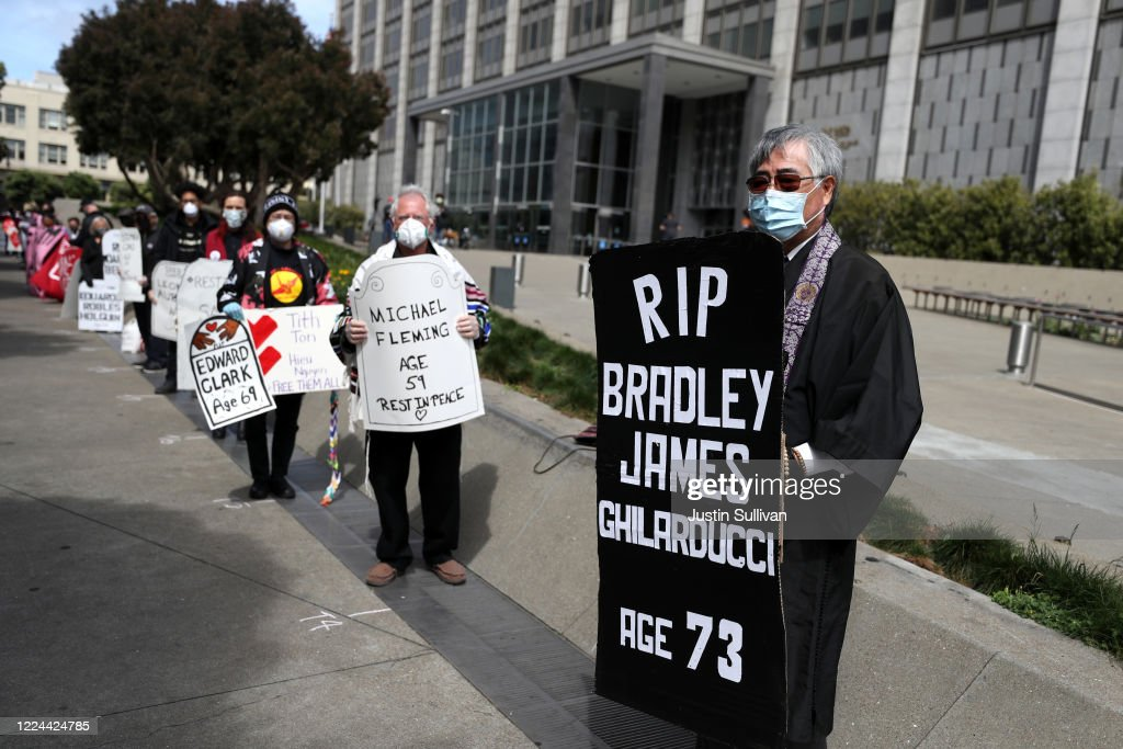 Activists And Family Members Memorialize Covid-19 Victims That Have Died While Incarcerated Or Detained By ICE : News Photo