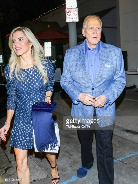 Faith Majors and Lee Majors are seen on December 30 2019 in Los Angeles California
