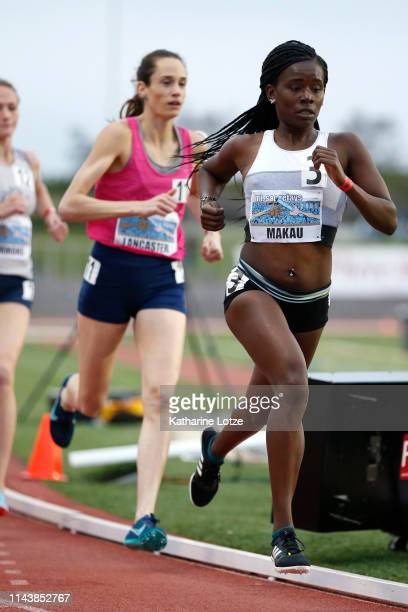 Faith Makau runs in the second section of the women's 1500 meter run on the first day of the 61st Mt SAC Relays at Murdock Stadium at El Camino...
