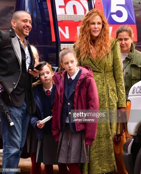 Faith Margaret Kidman Urban Sunday Rose Kidman Urban and Nicole Kidman seen filming on location for 'The Undoing' on the Upper East Side on March 19...