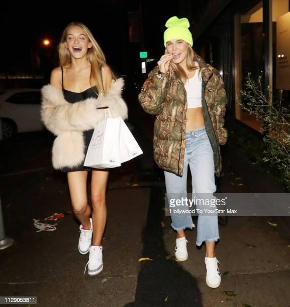 Faith Schroder and Cambrie Schroder are seen on March 6 2019 in Los Angeles