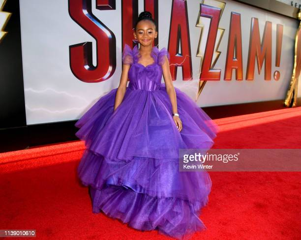 Faithe Herman arrives at the world premiere of Warner Bros Pictures and New Line Cinema's SHAZAM at TCL Chinese Theatre on March 28 2019 in Hollywood...