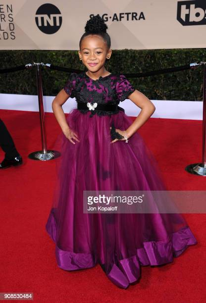 Faithe Herman attends the 24th Annual Screen Actors Guild Awards at The Shrine Auditorium on January 21 2018 in Los Angeles California