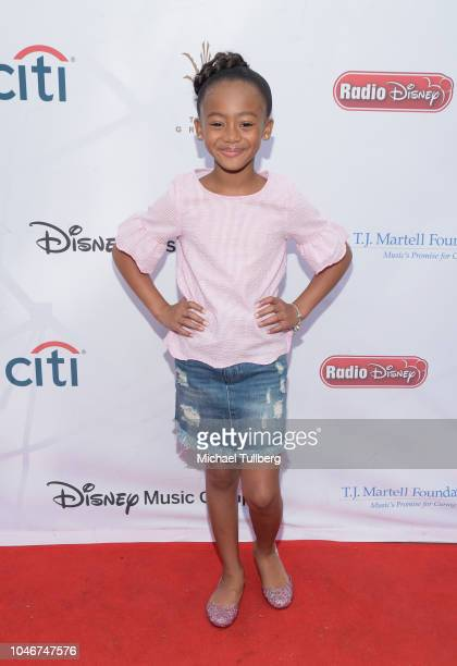 Faithe Herman attends the 9th annual LA Family Day hosted by the TJ Martell Foundation at The Grove on October 6 2018 in Los Angeles California