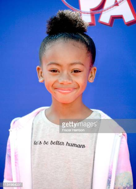 Faithe Herman attends the premiere of Paramount Pictures' Wonder Park at Regency Bruin Theatre on March 10 2019 in Los Angeles California