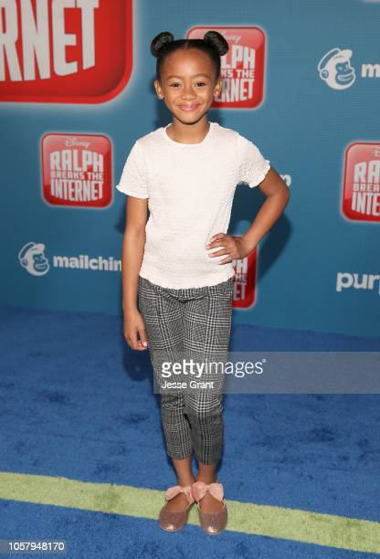 Faithe Herman attends the World Premiere of Disney's RALPH BREAKS THE INTERNET at the El Capitan Theatre on November 5 2018 in Hollywood California