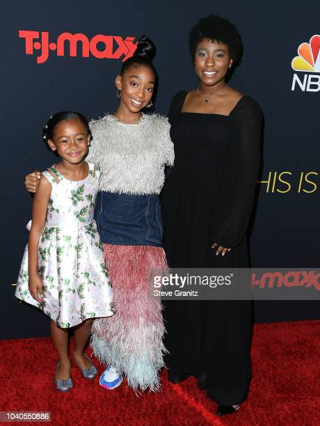 Faithe Herman Eris Baker Lyric Ross arrives at the Premiere of NBC's This Is Us Season 3 at Paramount Studios on September 25 2018 in Hollywood...