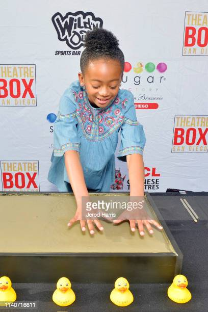Faithe Herman honored with a handprint ceremony at Theatre Box® Entertainment Complex on April 05 2019 in San Diego California