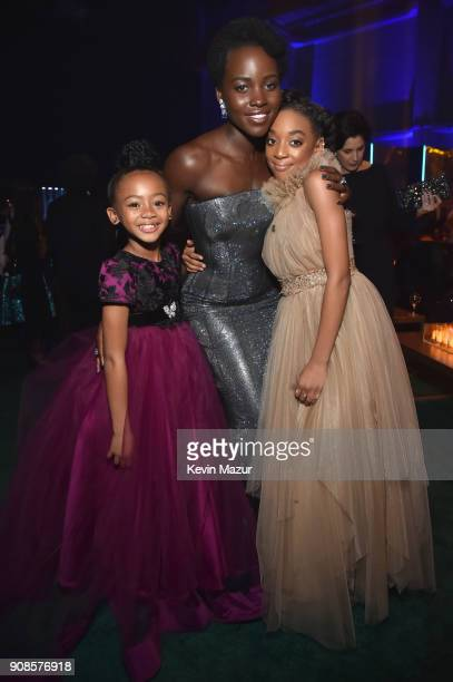 Faithe Herman Lupita Nyong'o and Eris Baker attend People and EIF's Annual Screen Actors Guild Awards Gala sponsored by TNT and L'Oreal Paris at The...