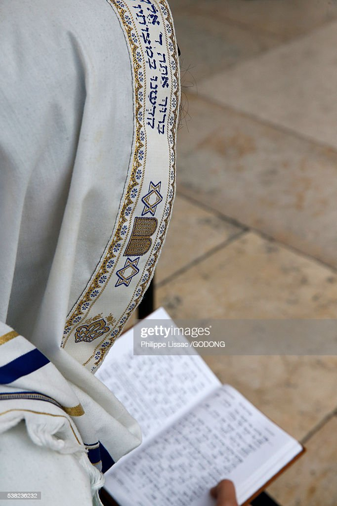Faithful at the Western wall, Jerusalem. : Stock Photo