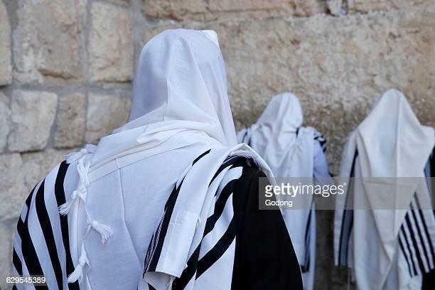 Faithful at the Western wall, Jerusalem.