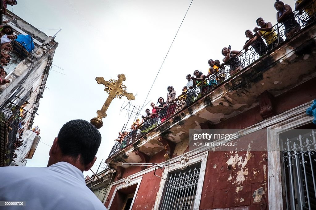 TOPSHOT-CUBA-PATRONESS-OUR LADY OF CHARITY : News Photo