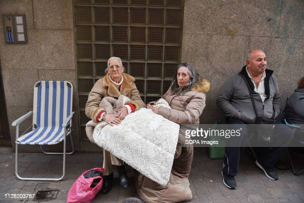Faithful followers seen waiting in queue in the street for the first Friday. Thousands of Catholics from various countries gathered close to the...