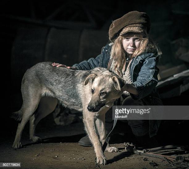 faithful friend in ghetto - dirty little girls photos stock pictures, royalty-free photos & images