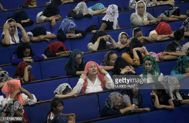 Faithful participate in the baptism day of the 'La Luz Del Mundo' church in Guadalajara State of Jalisco Mexico on June 23 2019 The international...
