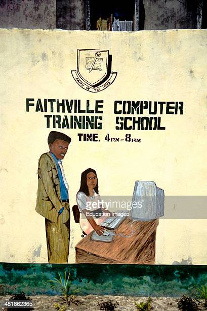 Faithville Computer Training School an example of sign art found throughout West Africa Lagos in Nigeria West Africa