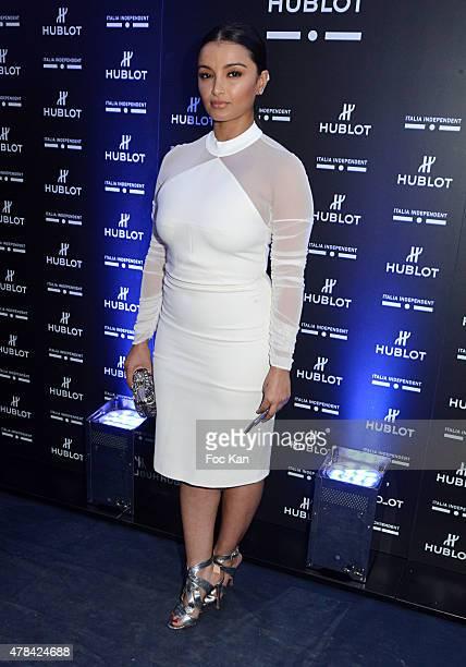 Fajer Al Rajaan attends the 'Hublot Blue' cocktail party At Monsieur Bleu Palais De Tokyo on June 24 2015 in Paris France