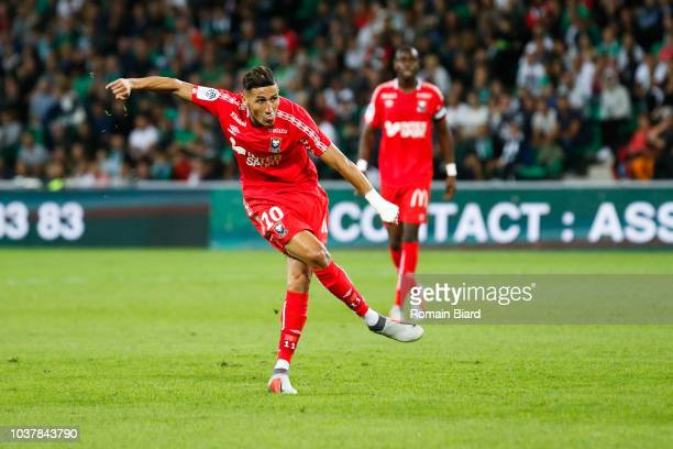 Beauvue Claudio of Caen during the Ligue 1 match between Saint Etienne and Caen at Stade GeoffroyGuichard on September 22 2018 in SaintEtienne France