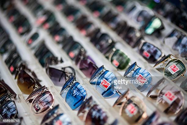 fake designer sunglasses, bangkok - designer label stock pictures, royalty-free photos & images