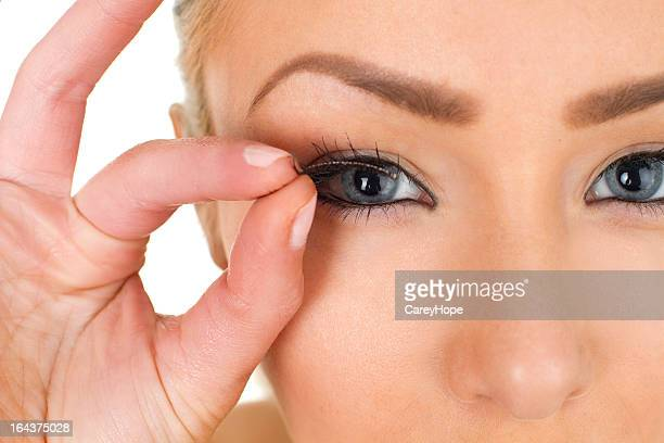 fake eyelashes - false eyelash stock pictures, royalty-free photos & images