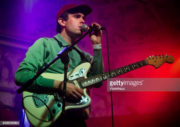 Fake Laugh otherwise known as Kamran Khan performs as support to Girl Ray at the Deaf Institute on April 17 2018 in Manchester England
