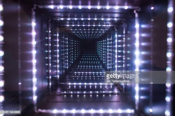 fake led light tunnel - fälschung stock-fotos und bilder