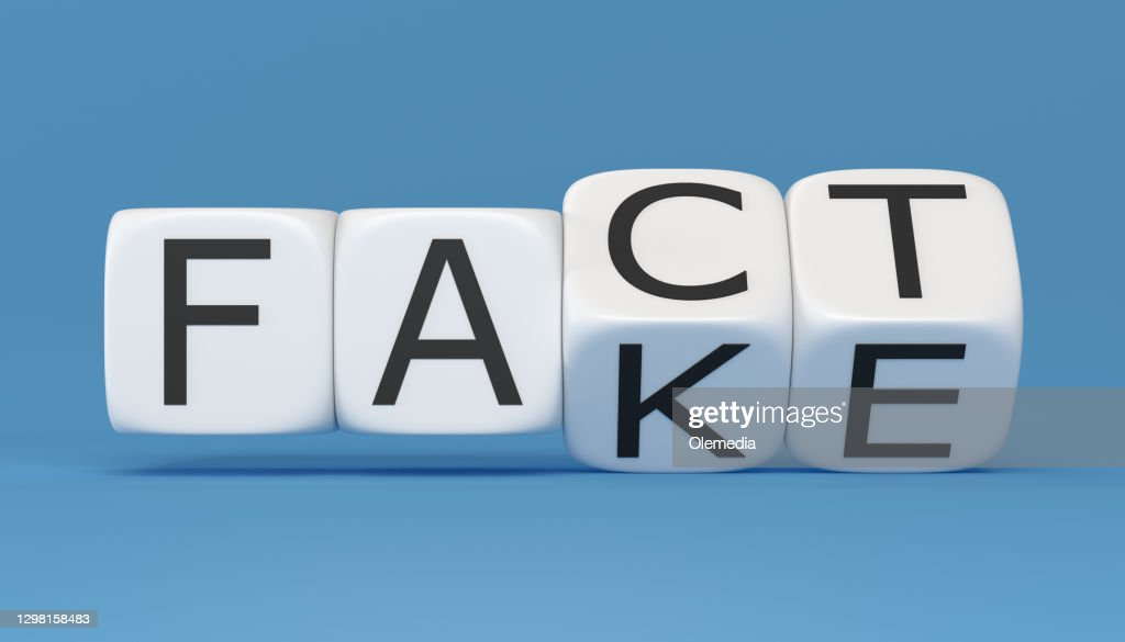 Fake news and facts digital concept : Stock Photo