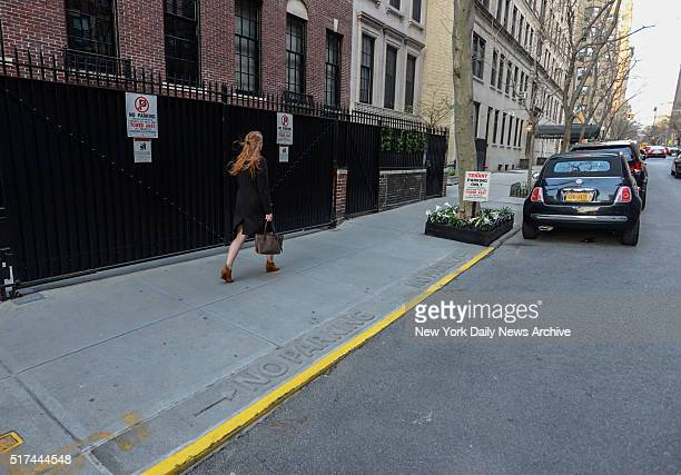 Fake parking signs are posted in front of singer/actress Madonna's residence in Manhattan on Thursday March 24 2016 Madonna is in hot water after her...