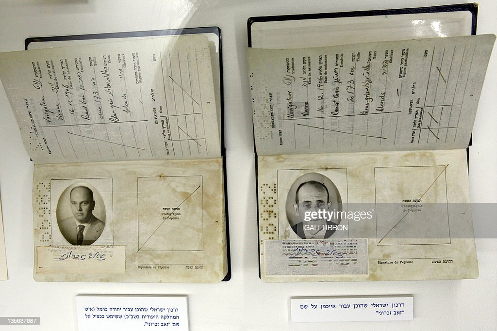 Fake passports, one used by an Israeli M : News Photo