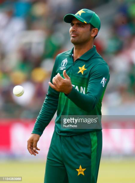 Fakhar Zaman of Pakistan during ICC Cricket World Cup between Pakinstan and Bangladesh at the Lord's Ground on 05 July 2019 in London, England.