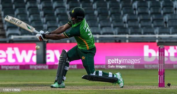 Fakhar Zaman of Pakistan during the 2nd Betway ODI match between South Africa and Pakistan at Imperial Wanderers Stadium on April 04, 2021 in...