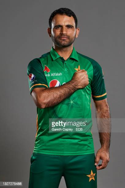 Fakhar Zaman of Pakistan poses during a portrait session at The Incora County Ground on July 05, 2021 in Derby, England.