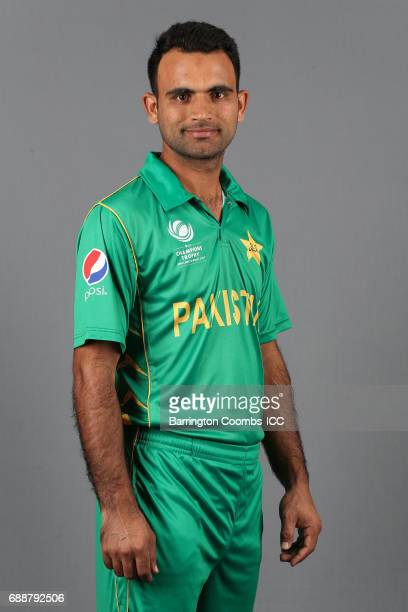 Fakhar Zaman of Pakistan poses during the portrait session at the Malmaison Hotel on May 26 2017 in Birmingham England