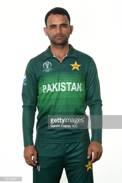 Fakhar Zaman of Pakistan poses for a portrait prior to the ICC Cricket World Cup 2019 at on May 25, 2019 in Cardiff, Wales.