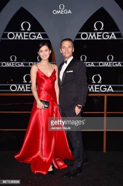 Fala Chen and Raynald Aeschlimann attends the OMEGA Aqua Terra at Palazzo Pisani Moretta on October 28 2017 in Venice Italy