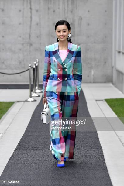 Fala Chen attends the Emporio Armani show during Milan Fashion Week Fall/Winter 2018/19 on February 25 2018 in Milan Italy