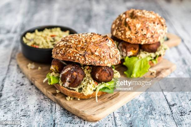 Falafel Burger with Tabbouleh